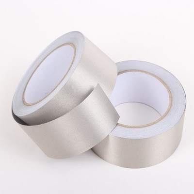 EMI,EMF shielding Tape-Metal plated fiber tape 1roll(50mm x 20M+One side adhesive side)